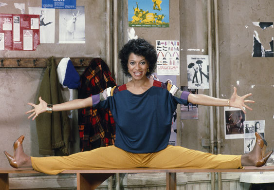 Debbie Allen on the set of Fame