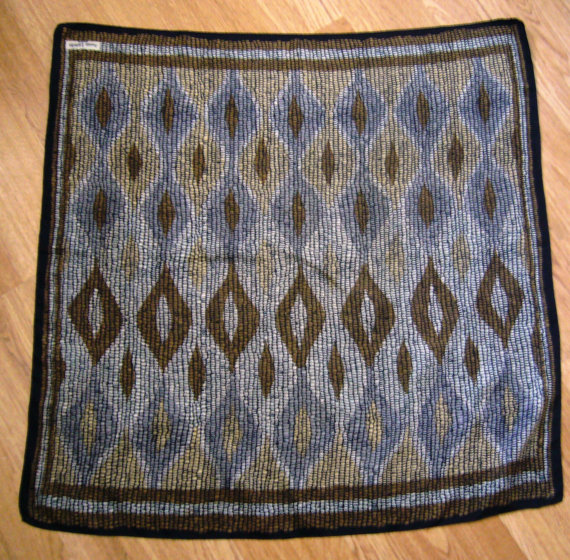 Vintage Lanvin Silk Scarf 1950s Print by Cabinet49