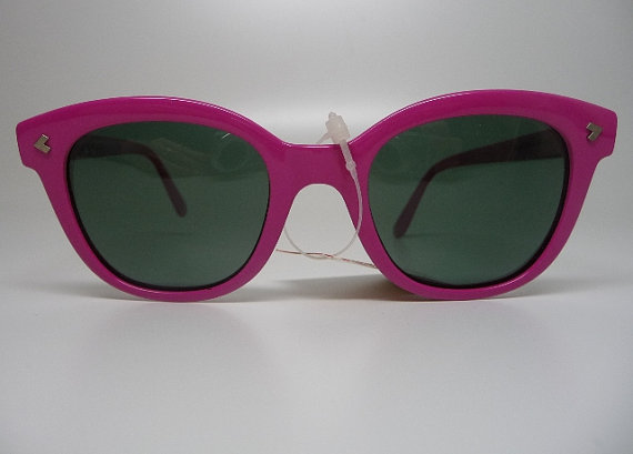Vintage Polaroid France Pink Berry Polarising Sunglasses New by Sugarguts