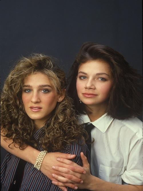 Justine Bateman & Sarah Jessica Parker circa 1980's
