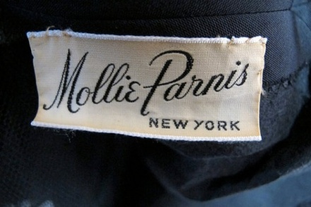 Mollie Parnis vintage label