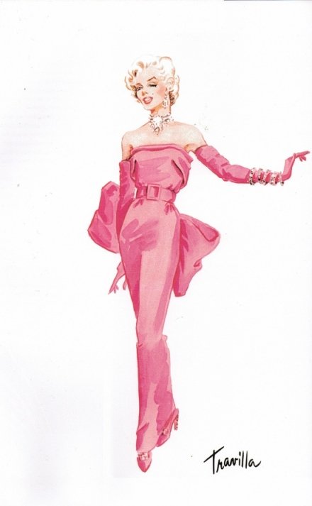 "Travilla's Costume Design for Marilyn Monroe from the movie ""Gentlemen Prefer Blondes""."
