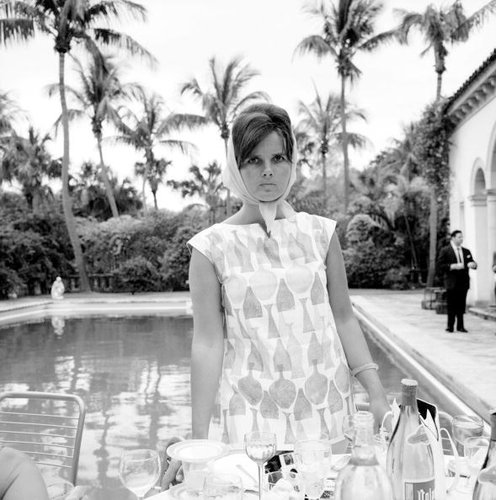 Lilly Pulitzer, the fashion designer known for her tropical print dresses, in Palm Beach, Fla., circa 1955.
