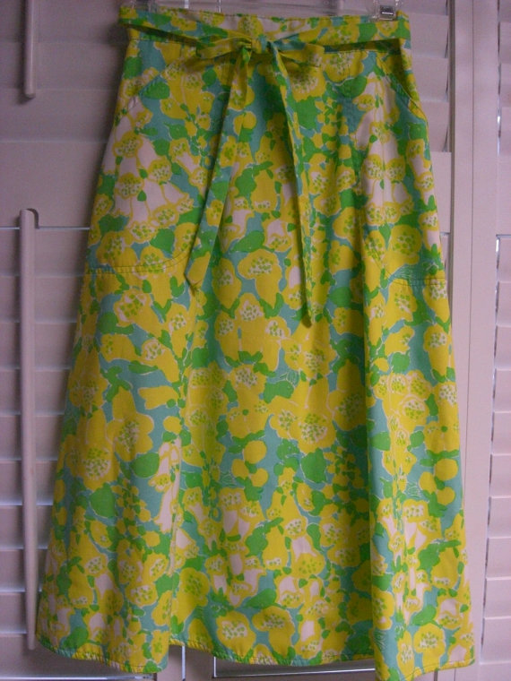 Vintage LIZA by LILLY PULITZER Wrap Skirt by GreenandGroovy