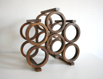 Mid Century Wine Rack by boxofhollyhocks