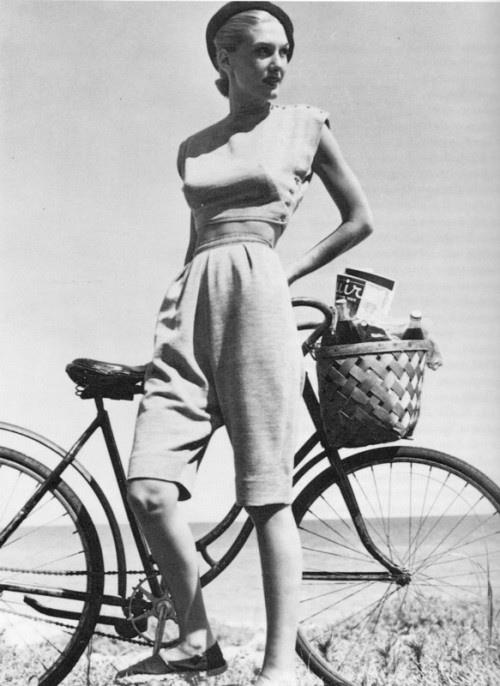 Claire McCardell bicycle outfit circa 1940's