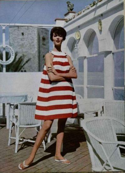 Jacques Heim Sun-Dress - 1958 L'Officiel De La Mode - 435-436