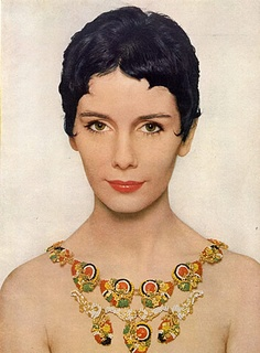 Miriam Haskell (Jewels) 1954 Maggie McNamara, Flowers Necklace, Richard Avedon