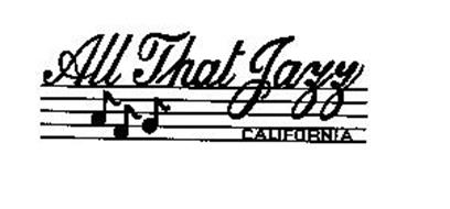 All That Jazz California label circa 1981