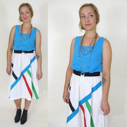 Vintage Modern Color Block Dress, Medium / Large by DUSKtillDAWNvintage