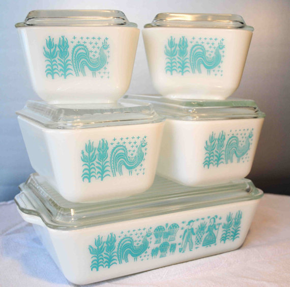 Butterprint PYREX Refrigerator Set Ovenware Tableware Serveware BONUS SET by BridgetsCollection
