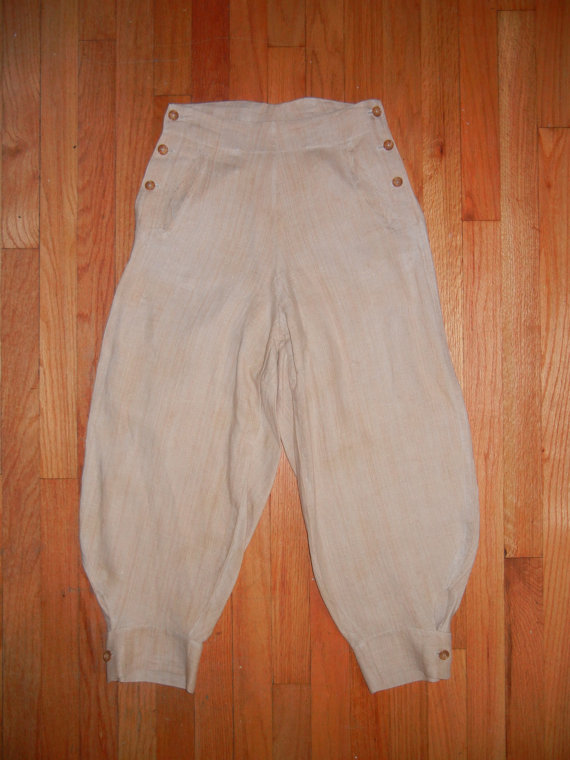 Vintage 20s 30s Womens Linen Knickers Pants 1920s 1930s by ltownsend17