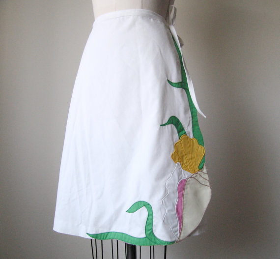 Vintage Cotton Wrap Skirt - Size: S/M by OUTLYING