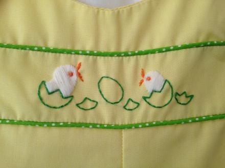 vintage 60s baby chicks yellow romper set 12-18 mos
