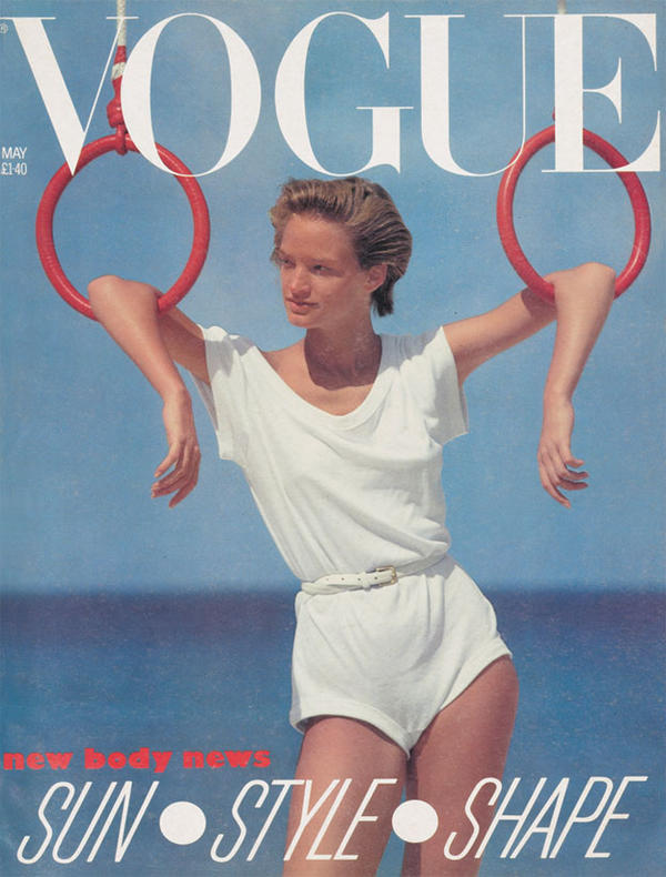 Vogue UK cover - May 1983 - Norma Kamali romper