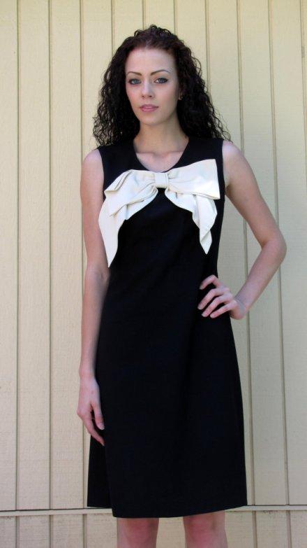 Vintage 60s dress// HUGE bow// Bobbie Brooks by hakther