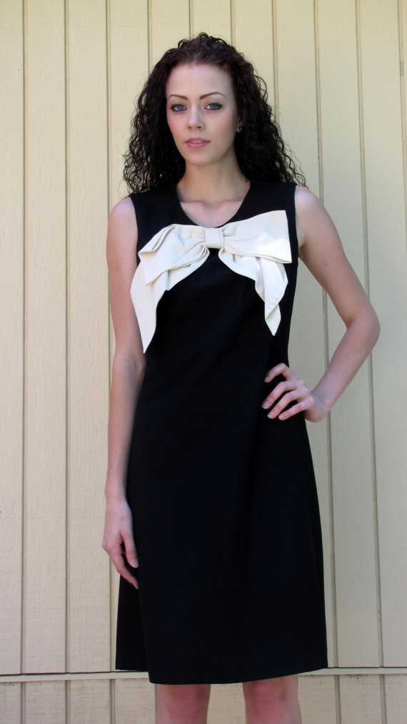 Vintage 60s dress// HUGE bow// Bobbie Brooks by hakther
