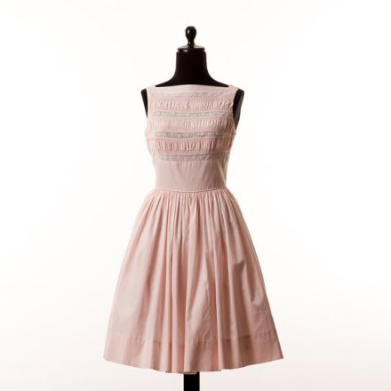 1950s Pink Cotton Dress/ Dirty Dancing Dress by petalpinkvintage
