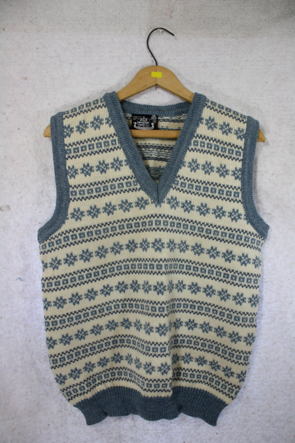 1970's vintage Dale of Norway Nordic blue wool vest s/m by WindingRoadVintage