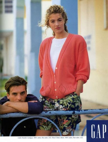 Gap - ELAINE IRWIN & JOHN PEARSON Gap Ad 1989 via Top Models of the World.