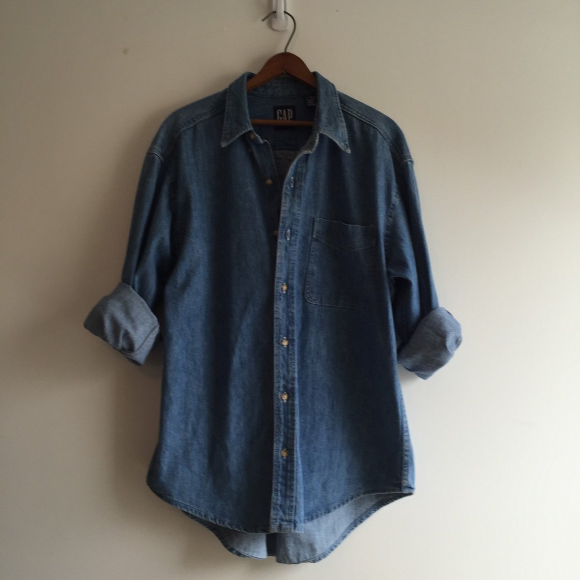 Vintage 80's Gap Chambray Denim Shirt by Vintspiration