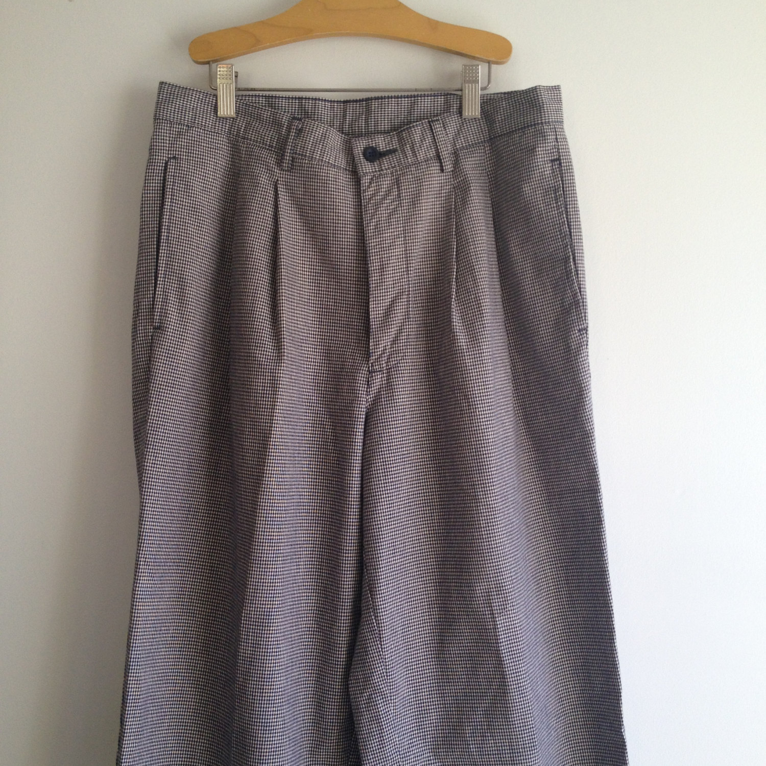 vintage 80s GAP mens HOUNDSTOOTH pleated pants 32 x 34 by Vintspiration