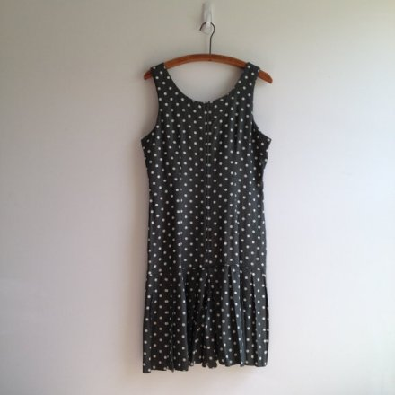vintage 80s POLKA DOTS pleated romper shorts s m