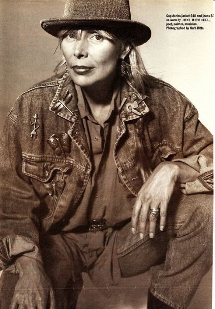 Joni Mitchell for Gap by Herb Ritts circa 1990