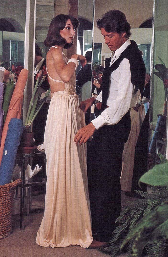Roy Halston with Angelica Houston