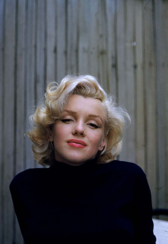 marilyn monroe black turtleneck