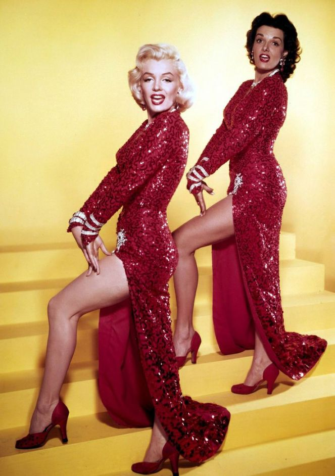 marilyn monroe red sequin dress