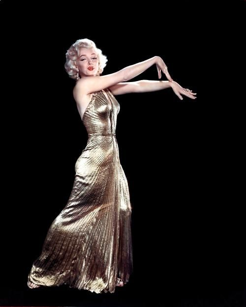 marilyn monroe travilla gold gown