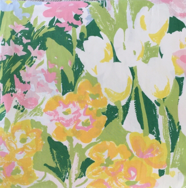 Vintage Stevens Utica Twin Fitted Spring Floral Sheet